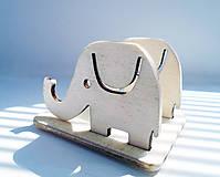 Pomôcky - Stojan na mobil sloník - 6790718_