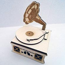 Dekorácie - Retro dekorácia gramofón - 6791925_