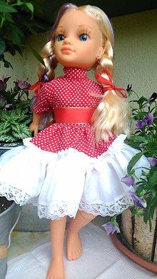 Bábiky - Červené šaty pre bábiku - 6791670_