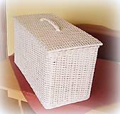Košíky - Kôš na prádlo - biely - 6790520_
