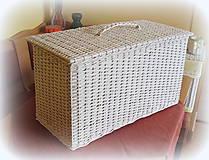 Košíky - Kôš na prádlo - biely - 6790521_