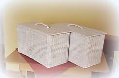 Košíky - Kôš na prádlo - biely - 6790523_
