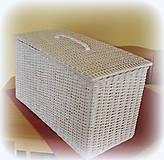 Košíky - Kôš na prádlo - biely - 6790526_
