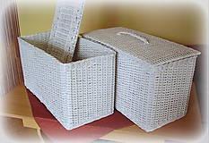 Košíky - Kôš na prádlo - biely - 6790529_