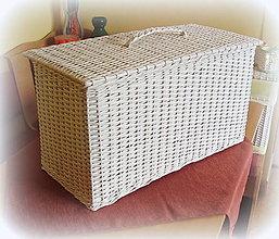 Košíky - Kôš na prádlo - biely - 6790527_