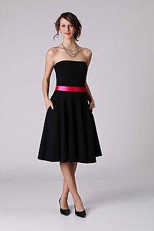 Šaty - Šaty MIDI s vreckami ponad prsia - 6793296_