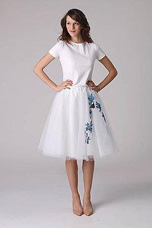 Sukne - Tylová sukňa s čipkou - 6796151_