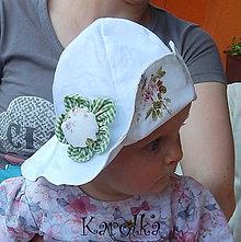 Detské čiapky - Klobúk pre deti - Ružička ZĽAVA z 9,5 na 7,7 - 6796261_