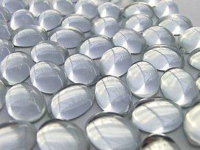 Galantéria - Ozdobné kamienky Mačacie oko 10x14 mm - Crystal - 6796477_
