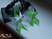 Pierka - svadobné pierka  zelené - 6796267_