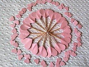 Dekorácie - Zápichy a konfety - ružové - 6794413_