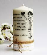 Dekoračná sviečka - pre najlepšiu priateľku