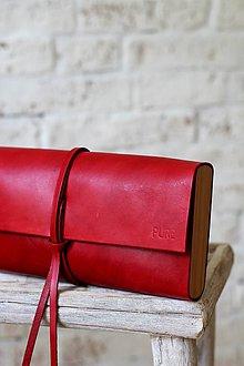 Kabelky - Listová kabelka MINI RED - 6795124_