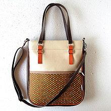 Veľké tašky - Basic - Zipp - Tmavohnedá s bodkami - 6794650_