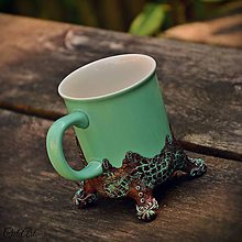 Nádoby - Vzácna bytosť - hrnček na čaj, s príveskom - 6794592_