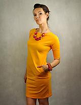 Šaty - Jednoduché šaty s vreckami - Slniečkové - 6793549_
