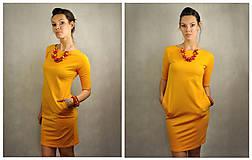 Šaty - Jednoduché šaty s vreckami - Slniečkové - 6793550_
