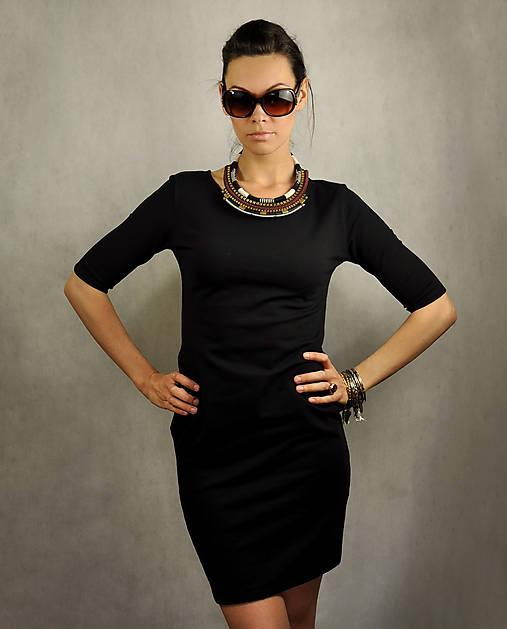 Šaty - Jednoduché šaty s vreckami - Hollywood - 6793583_