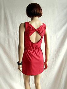 Šaty - Šaty s mašľou na chrbte červené (XS S) -50% a34454a598a