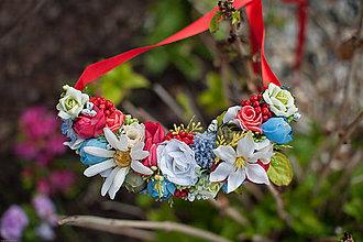 Náhrdelníky - kvetinkový náhrdelník - 6795714_
