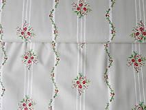Textil - ruže do ružova a pruhy - 6795237_