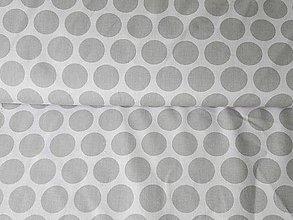 Textil - bodky šedo-šedé) - 6795275_