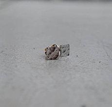 Náušnice - Veselé náušničky zlaté - 6798257_
