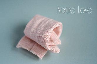 Detské doplnky - Pletené štucne z ručne farbenej merino vlny - 6798346_
