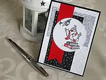 Červený diplom - pohľadnica k promóciám