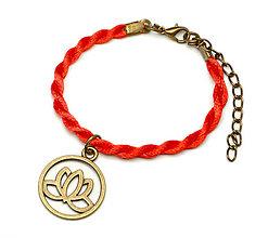 Náramky - staromosadzný karma lotos kabbalah náramok - 6797381_