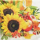 Papier - S718 - Servítky - slnečnice, jablko - 6800015_