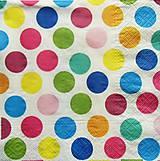 Papier - S720 - Servítky - veselé bodky, prúžky - 6800069_