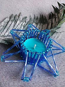 Svietidlá a sviečky - Aj modrá je dobrá - 6800167_