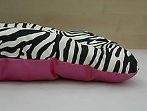 Pre zvieratká - Pelech zebra s cyklaménovou, 60 x 75 cm - 6798935_