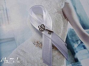 Pierka - svadobné pierko s kľúčikom šťastia II./veľké/ - 6801005_