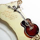 - Hudobné hodiny - Gitara Ornament - 6797400_