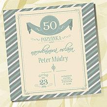 Papiernictvo - Narodeninová pozvánka - blue - 6799438_