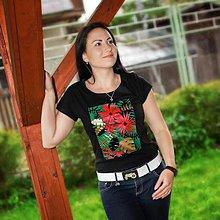 Tričká - Dámske tričko Jungle(potlač) - 6798376_
