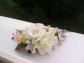 """Ozdoby do vlasov - Kvetinový štvrťvenček do vlasov """"Keď rozkvitne biela ruža..."""" - 6797409_"""
