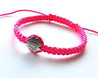 - So štvorlístkom - ružová neon - 6798019_