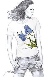 - Maľované tričko - Iris - 6799272_