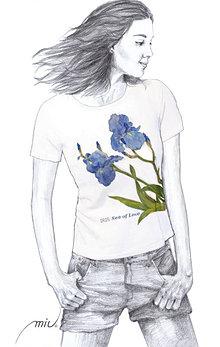 Tričká - Maľované tričko - Iris - 6799272_