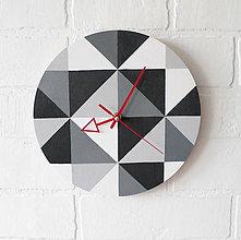 Hodiny - Nástenné hodiny Monochrom - 6798056_