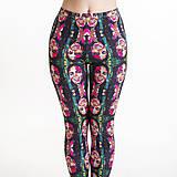Nohavice - Farebné elastické legíny s motívom autorského obrazu: Michael Jackson - 6798692_