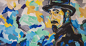 Obrazy - Akrylový obraz Serj Tankian (spevák zo skupiny SOAD) - 6798789_