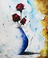 - Výpredaj 60%: Print A3 z originál obrazu Ruže - 6798878_