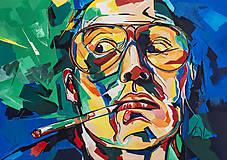 - Výpredaj 60%: Print A3 z originál obrazu Johnny Depp - 6798890_