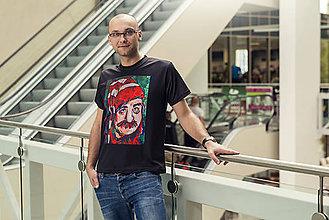 Tričká - ZLACNENÉ - Pánske tričko Július Satinský - skladom veľkosť M - 6798735_