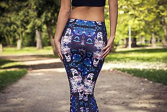 Nohavice - Farebné elastické legíny s motívom autorského obrazu: Andy Warhol - 6799080_
