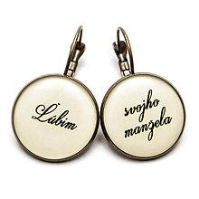Náušnice - Ľúbim svojho manžela - 6799851_